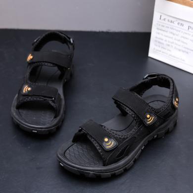 美駱世家2019新款夏季涼鞋男潮流涼拖鞋休閑鞋運動沙灘鞋越南鞋JL-2210A