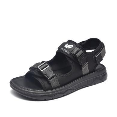 富貴鳥涼鞋男 韓版舒適男士厚底涼鞋戶外沙灘 涼鞋 C994007E