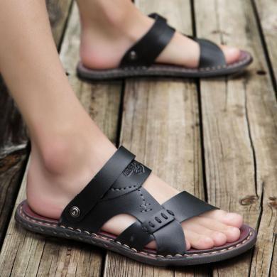 搭歌2019夏季男式涼鞋男潮品質休閑大碼沙灘鞋男士拖鞋K6608