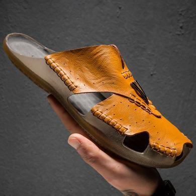 搭歌2019夏季新款包頭拖鞋男士個性潮流涼拖鞋KAK1866