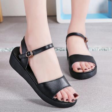 34-41尺碼女鞋小碼大碼一字露趾涼鞋女鞋好搭風平底涼鞋日常簡約  MN819