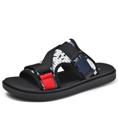卡帝樂鱷魚拖鞋男夏季韓版防滑沙灘鞋露趾運動學生休閑透氣涼拖鞋QH2105
