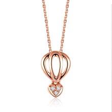 佐卡伊玫瑰18k金钻石吊坠女款时尚项坠女正品珠宝首饰
