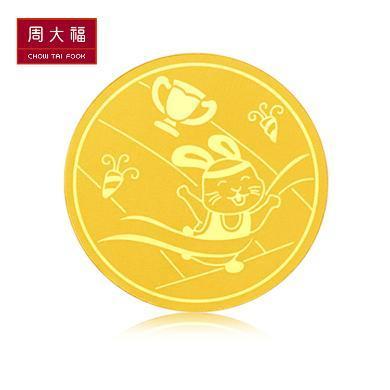 周大福健康树平安金章金章定价足金黄金金币R22906