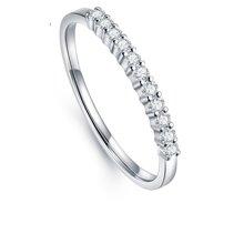 ARMASA阿瑪莎新款鉆戒群鑲排鉆戒指女18k白金鉆石排戒指環11顆22分金重約1.5克