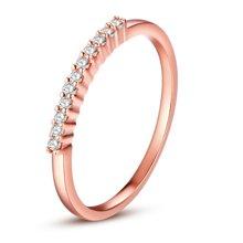 ARMASA阿瑪莎新款鉆戒群鑲排鉆戒指女18k玫瑰金鉆石排戒指環11顆22分金重約1.5克