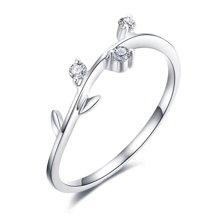 佐卡伊 白18K金戒指钻戒?#21512;?#38075;石求婚结婚戒指正品订婚女戒婚戒