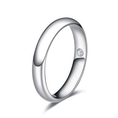 佐卡伊白18K金结婚钻石戒指情侣对戒男钻戒女戒婚戒 邂逅系列