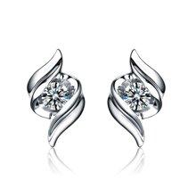 佐卡伊邂逅白18k金显钻结婚耳钉钻石耳环正品耳坠耳饰情人节礼物