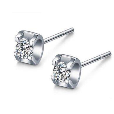 Cerana 18K金耳钉钻石耳钉耳环