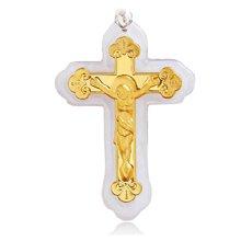 armasa阿瑪莎 金鑲玉足金翡翠 救恕 十字架
