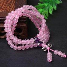 盈满堂 天然粉水晶配紫水晶4圈手链