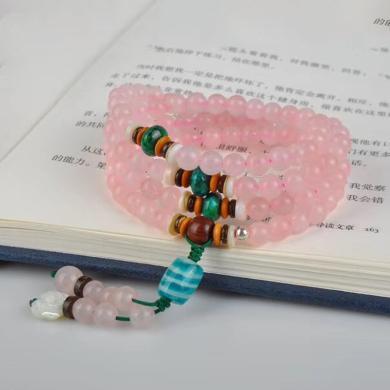 石玥珠寶 粉水晶手鏈6mmSY03004