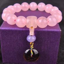 石玥珠宝 粉水晶手链10mmSY02996