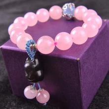 石玥珠宝 粉水晶手链10mmSY02989