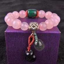 石玥珠宝 粉水晶手链10mmSY02993