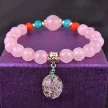 石玥珠宝 粉水晶手链10mmSY02995