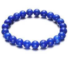 石玥珠寶 7mm青金石手鏈手串 藍色魅影XY00218