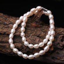 母親節禮物 盈滿堂 天然淡水珍珠橢圓形項鏈