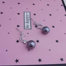 ARMASA阿瑪莎925銀珍珠耳釘不對稱星月耳環時尚百搭新款女人如珍珠防過敏送女友情人禮物