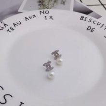 ARMASA阿瑪莎925銀貝珠耳釘清新耳環時尚百搭新款防過敏送女友情人禮物