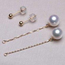 雅丹妮18k黃金7-7.5MM akoya海水珍珠耳環一款多佩戴 長款 配鑒定證書