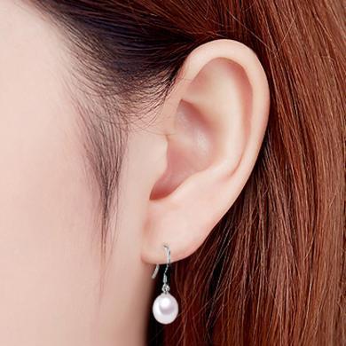 衡潤925銀珍珠耳環 簡約氣質耳飾時尚飾品