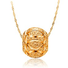 armasa 阿玛莎 s925银镀金银珠项坠女短款时尚水波链锁骨项链 1珠s999022
