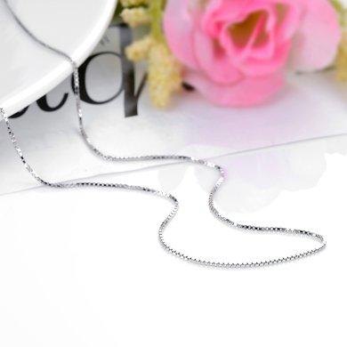 妍韻珠寶 925銀盒仔鏈YAN00708銀色18寸