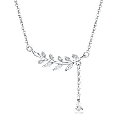 妍韻珠寶 S925銀韓飾樹葉項鏈套鏈YAN00004