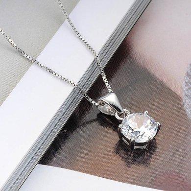 衡潤 925銀吊墜 女士項鏈八心八箭瑞士鉆鎖骨鏈 女 時尚銀飾HR12N2118
