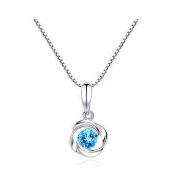 ARMASA阿玛莎S925银玫瑰形项链玫瑰之恋时尚流行饰品生日送女朋友礼物