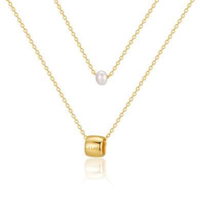 【香港直郵 包郵包稅】ZIVI丹麥至未 天然mini珍珠雙層項鏈 3100270