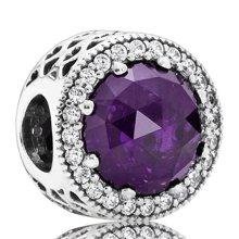 PANDORA 潘多拉深紫色皇家紫水晶925纯银DIY串珠791725NRP(1)