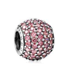 PANDORA 潘多拉  粉色锆石镶嵌搭配串珠791051CZS(1)