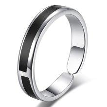 妍韵珠宝 S925银韩版时尚黑色戒指YAN00162