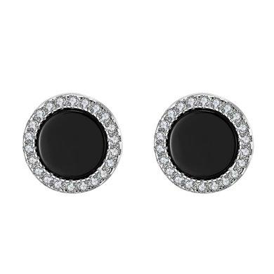 Cerana S925銀黑瑪瑙耳釘耳環耳飾