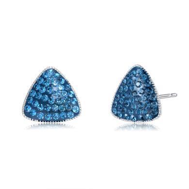 【香港直郵 包郵包稅】ZIVI丹麥至未 海藍晶石三角耳釘 1300157