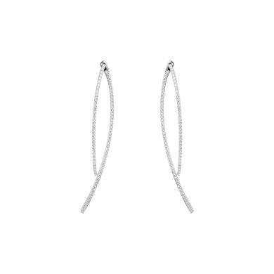 【支持購物卡】APM Monaco銀鑲曲線耳環AE9000OX 氣質長款時尚耳墜 簡約飾品
