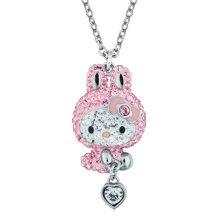 施华洛世奇 SWAROVSKI Hello Kitty 粉色 水晶可爱项链5167916