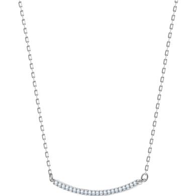 【支持购物卡】Swarovski施华洛世奇 ONLY系列 女士一字型微笑笑脸锁骨项链 38cm