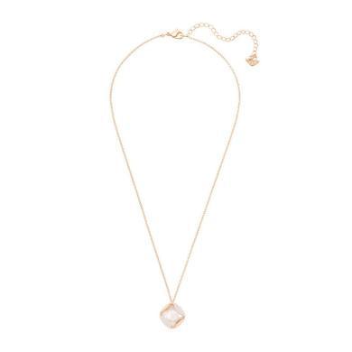 【支持購物卡】Swarovski施華洛世奇 送女友禮物丨HEAP 女士優雅精致菱形鎖骨項鏈 38cm 白色