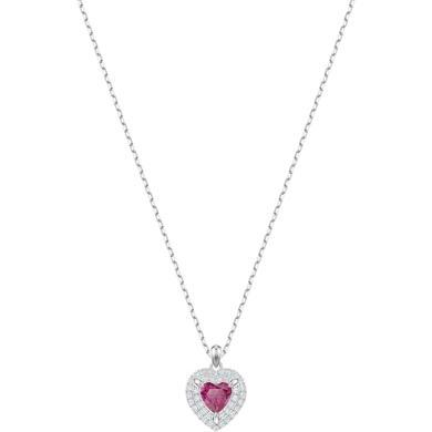 【支持購物卡】Swarovski施華洛世奇 ONE 女士浪漫心形鎖骨項鏈 38cm 白