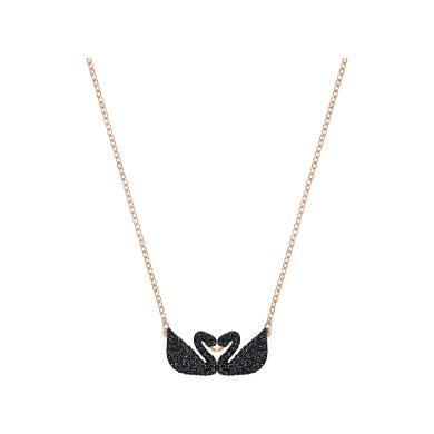 【支持购物卡】Swarovski施华洛世奇 Iconic Swan Double 双黑天鹅项链5296468