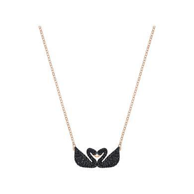 【支持購物卡】Swarovski施華洛世奇 Iconic Swan Double 雙黑天鵝項鏈5296468