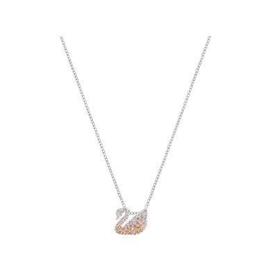 【支持購物卡】Swarovski施華洛世奇 ICONIC SWAN女士天鵝鎖骨項鏈 小號 漸變色5215038