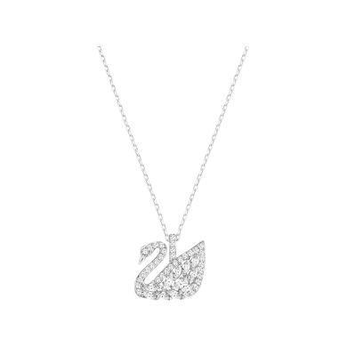 【支持購物卡】Swarovski施華洛世奇 SWAN LAKE白金色天鵝項鏈女鎖骨鏈飾品裝飾項鏈 5296469