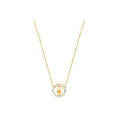 【支持购物卡】Swarovski施华洛世奇 丨HOLLOW 时来运转双环滚珠转运珠项链 金色5349336