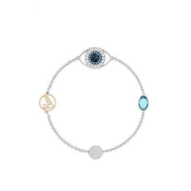 【支持購物卡】Swarovski施華洛世奇 SWA REMIX COLLECTION隱形磁扣手鏈女手飾配飾 藍 惡魔之眼5373230