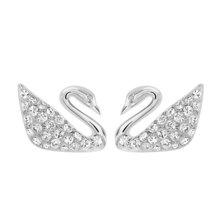 swarovski 施華洛世奇 經典滿鉆天鵝造型穿孔耳釘耳環 1116357